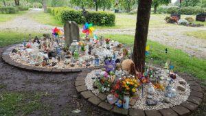 Sternenkinder-Grabfeld auf dem Friedhof in Homburg